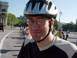 James at the inaugural Tour de Brooklyn in 2005.  Image taken from Streetsblog.