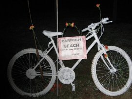 Parrish Beach's ghostbike
