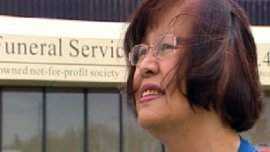 Lyla Gray says the cyclist killed Tuesday was riding home from sending money to his family in the Philippines. (CBC)